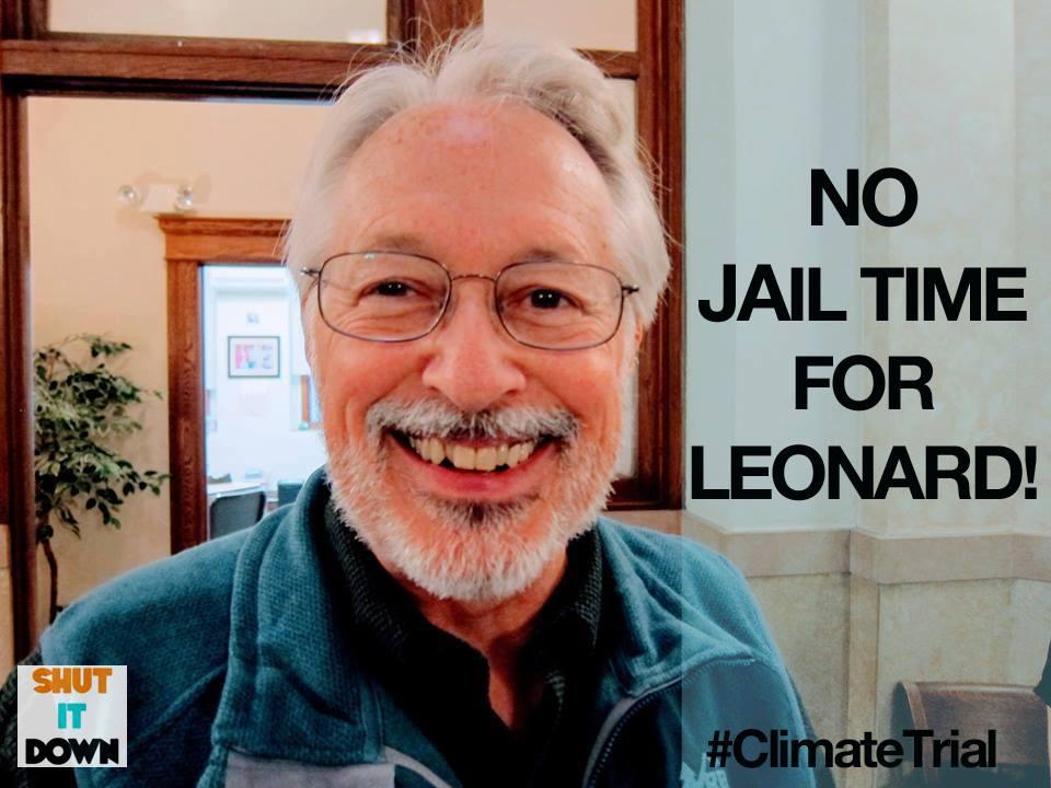 No Jail Time or Fines for Climate Activist Leonard Higgins